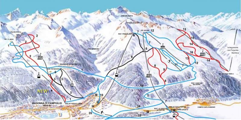 Dove sciare a Madonna di Campiglio